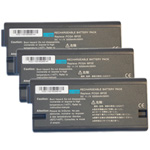 Replacement Battery for Sony VGP-BP2EA (3-Pack)